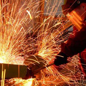 welder and sparks